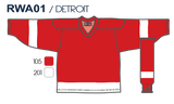 SP Apparel League Series Detroit Red Wings Sublimated Hockey Jersey - PSH Sports
