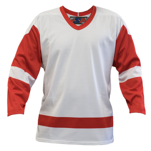 SP Apparel League Series Detroit Red Wings White Sublimated Hockey Jersey