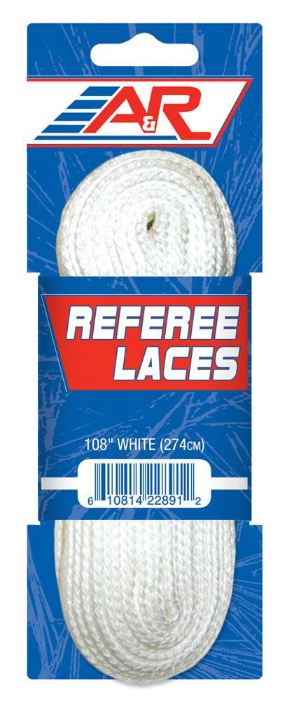 A&R Hockey Referee Non-Waxed Skate Laces - PSH Sports