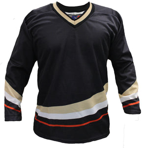 SP Apparel League Series Anaheim Ducks Black Sublimated Hockey Jersey - PSH Sports