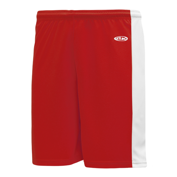 Athletic Knit (AK) LS9145 Red/White Field Lacrosse Shorts