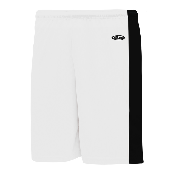 Athletic Knit (AK) LS9145-222 White/Black Field Lacrosse Shorts