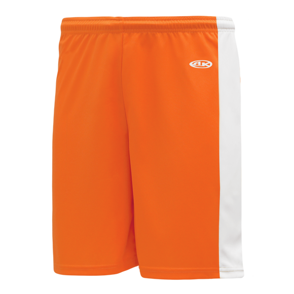 Athletic Knit (AK) LS9145-238 Orange/White Field Lacrosse Shorts