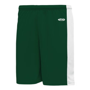 Athletic Knit (AK) LS9145-260 Dark Green/White Field Lacrosse Shorts