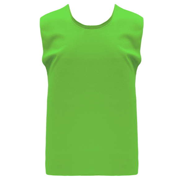 Athletic Knit (AK) SV100 Lime Green Hockey Practice Scrimmage Vest/Pinnie