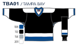 SP Apparel League Series Tampa Bay Lightning Black Sublimated Hockey Jersey - PSH Sports