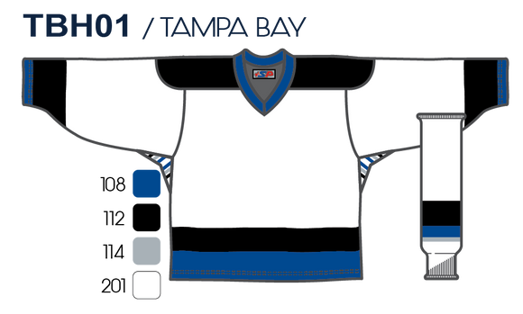SP Apparel League Series Tampa Bay Lightning White Sublimated Hockey Jersey - PSH Sports