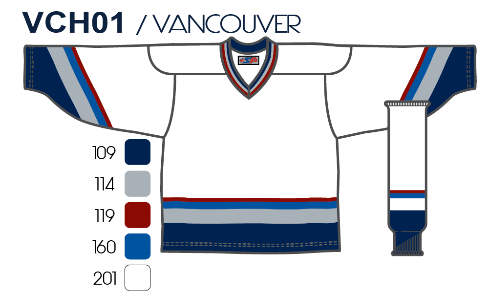 SP Apparel League Series Vancouver Canucks White Sublimated Hockey Jersey -  PSH Sports ... 52fe1b73d