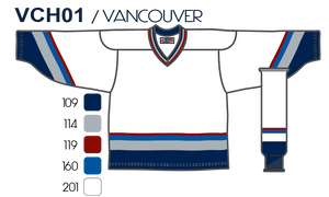 SP Apparel League Series Vancouver Canucks White Sublimated Hockey Jersey - PSH Sports