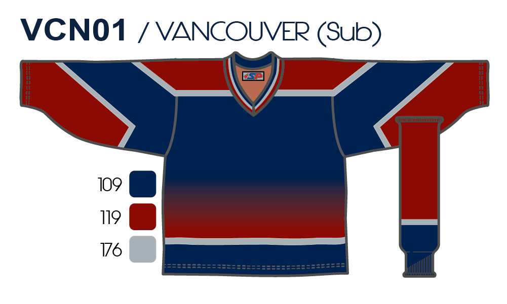 1786cfe39 SP Apparel League Series Vancouver Canucks Third Navy Sublimated Hockey  Jersey - PSH Sports ...