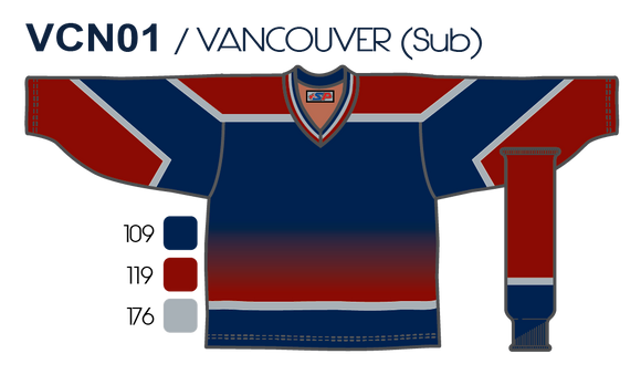 SP Apparel League Series Vancouver Canucks Third Navy Sublimated Hockey Jersey - PSH Sports