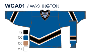 SP Apparel League Series Washington Capitals Blue Sublimated Hockey Jersey - PSH Sports