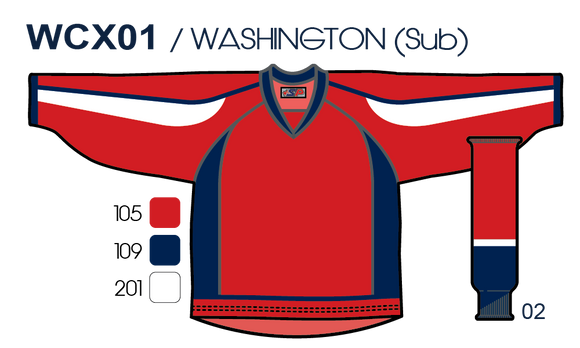 SP Apparel Evolution Series Washington Capitals Red Sublimated Hockey Jersey - PSH Sports