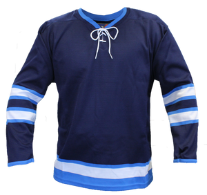 SP Apparel Evolution Series Winnipeg Jets Navy Hockey Jersey - PSH Sports