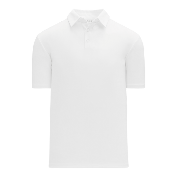 Athletic Knit (AK) A1810-000 White Short Sleeve Polo Shirt