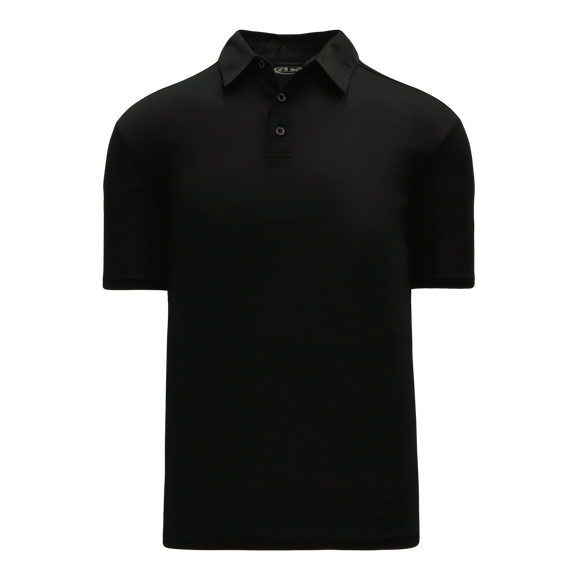 Athletic Knit (AK) A1810-001 Black Short Sleeve Polo Shirt