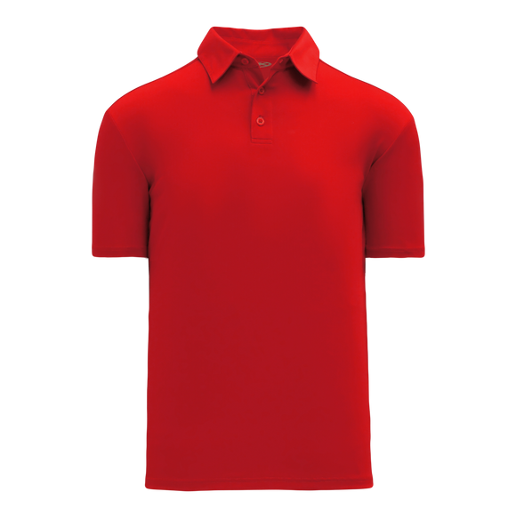 Athletic Knit (AK) A1810M-005 Mens Red Short Sleeve Polo Shirt