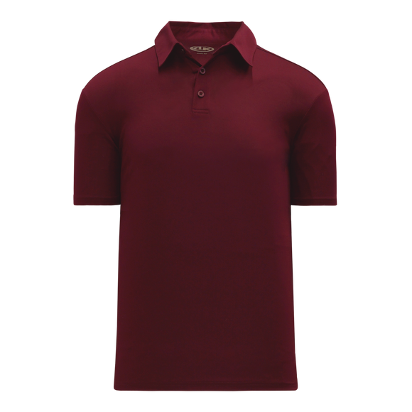 Athletic Knit (AK) A1810L-008 Ladies Maroon Short Sleeve Polo Shirt