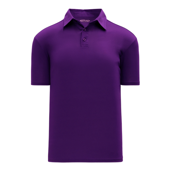 Athletic Knit (AK) A1810L-010 Ladies Purple Short Sleeve Polo Shirt