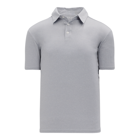 Athletic Knit (AK) A1810-020 Heather Grey Short Sleeve Polo Shirt
