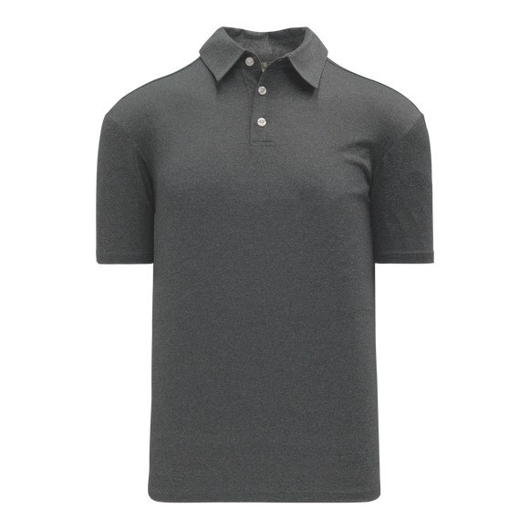 Athletic Knit (AK) A1810M-021 Mens Charcoal Grey Short Sleeve Polo Shirt
