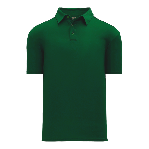 Athletic Knit (AK) A1810L-029 Ladies Dark Green Short Sleeve Polo Shirt