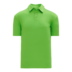 Athletic Knit (AK) A1810M-031 Mens Lime Green Short Sleeve Polo Shirt