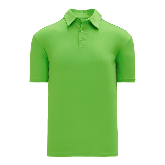 Athletic Knit (AK) A1810L-031 Ladies Lime Green Short Sleeve Polo Shirt
