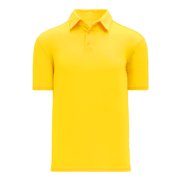 Athletic Knit (AK) A1810M-055 Mens Maize Short Sleeve Polo Shirt