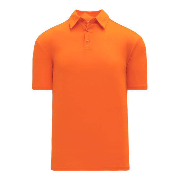 Athletic Knit (AK) A1810L-064 Ladies Orange Short Sleeve Polo Shirt