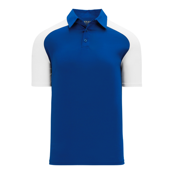 Athletic Knit (AK) A1815M-206 Mens Royal Blue/White Short Sleeve Polo Shirt