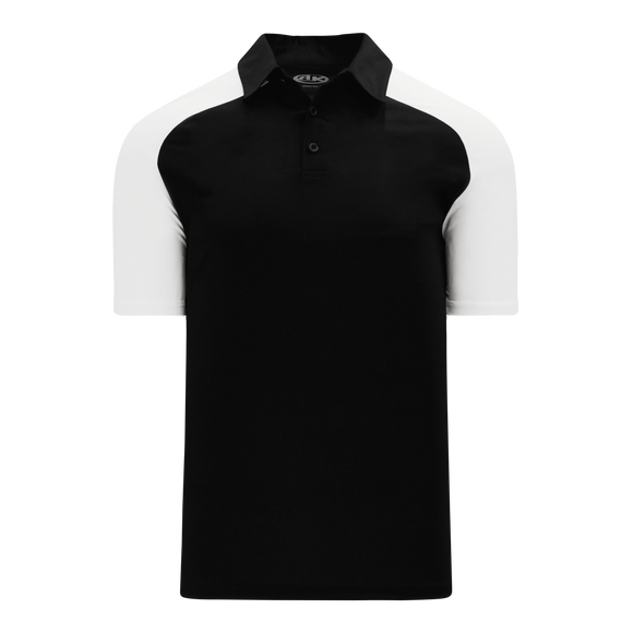 Athletic Knit (AK) A1815Y-221 Youth Black/White Short Sleeve Polo Shirt