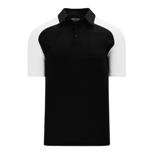 Athletic Knit (AK) A1815M-221 Mens Black/White Short Sleeve Polo Shirt