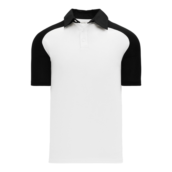 Athletic Knit (AK) A1815Y-222 Youth White/Black Short Sleeve Polo Shirt