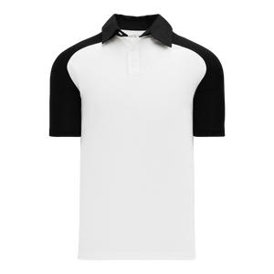 Athletic Knit (AK) A1815M-222 Mens White/Black Short Sleeve Polo Shirt