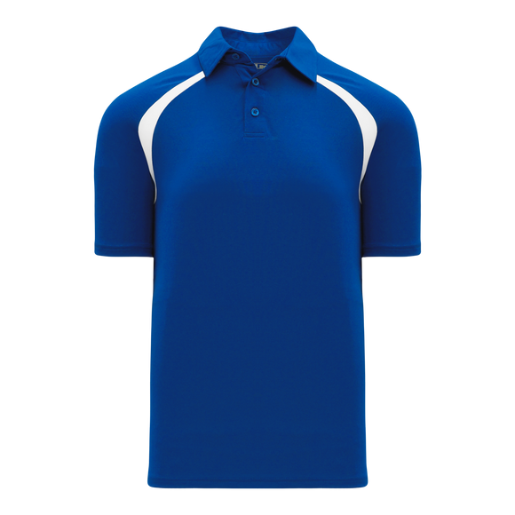 Athletic Knit (AK) A1820M-206 Mens Royal Blue/White Short Sleeve Polo Shirt