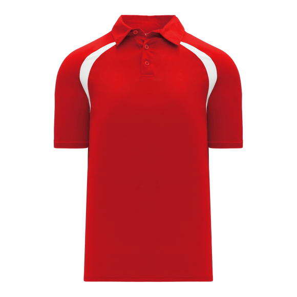 Athletic Knit (AK) A1820M-208 Mens Red/White Short Sleeve Polo Shirt