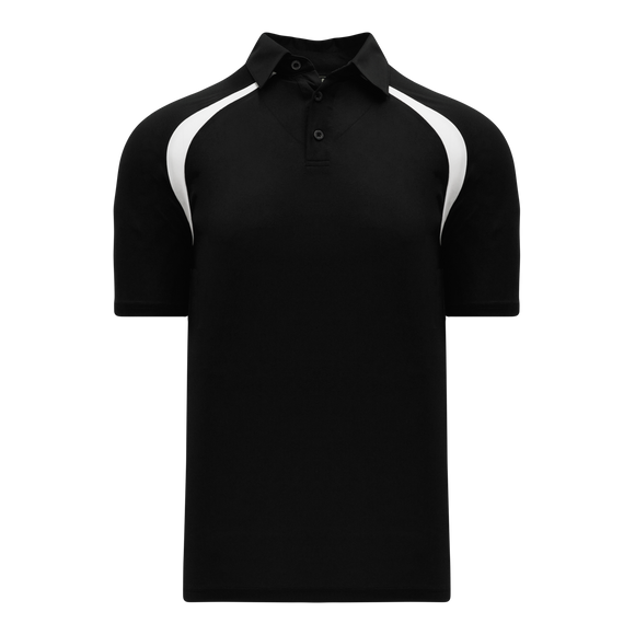 Athletic Knit (AK) A1820M-221 Mens Black/White Short Sleeve Polo Shirt