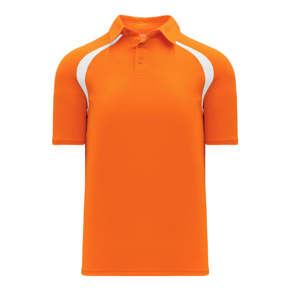 Athletic Knit (AK) A1820-238 Orange/White Short Sleeve Polo Shirt