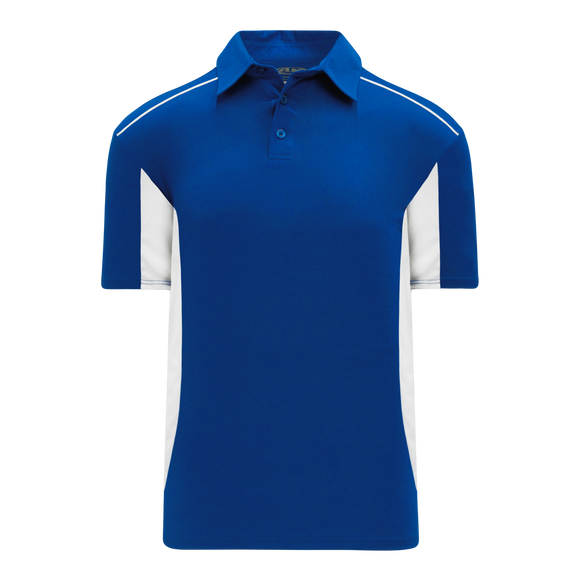 Athletic Knit (AK) A1825M-206 Mens Royal Blue/White Short Sleeve Polo Shirt