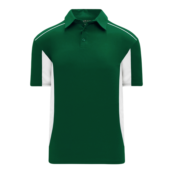 Athletic Knit (AK) A1825Y-260 Youth Dark Green/White Short Sleeve Polo Shirt