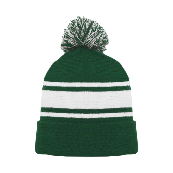 Athletic Knit (AK) A1830-260 Dark Green/White Hockey Toque/Beanie