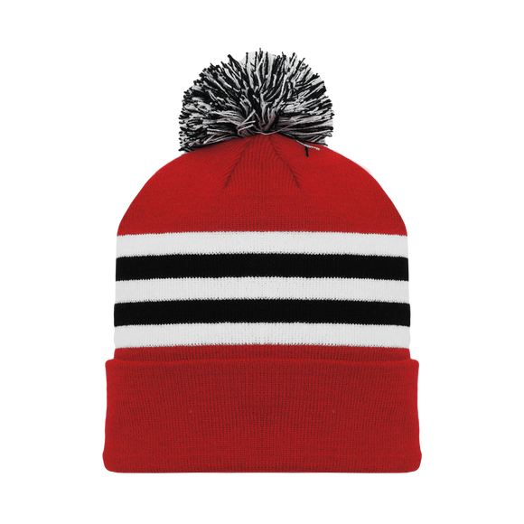 Athletic Knit (AK) A1830-304 Chicago Red Hockey Toque/Beanie