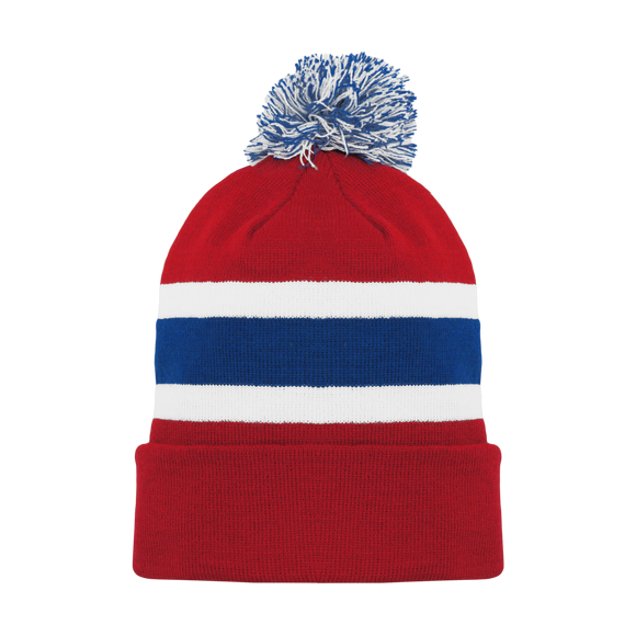 Athletic Knit (AK) A1830Y-308 Youth Montreal Red Hockey Toque/Beanie