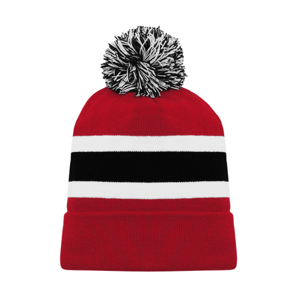 Athletic Knit (AK) A1830-366 New Jersey Red Hockey Toque/Beanie