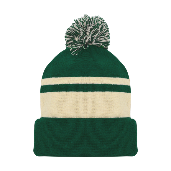 Athletic Knit (AK) A1830-563 Minnesota Dark Green Hockey Toque/Beanie