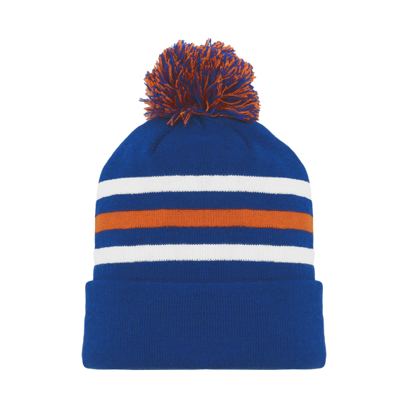 Athletic Knit (AK) A1830-820 Edmonton Royal Blue Hockey Toque/Beanie