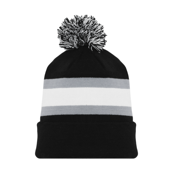 Athletic Knit (AK) A1830-941 LA Black Hockey Toque/Beanie