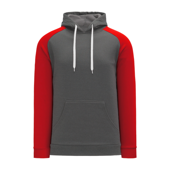 Athletic Knit (AK) A1840-933 Heather Charcoal/Red Apparel Sweatshirt