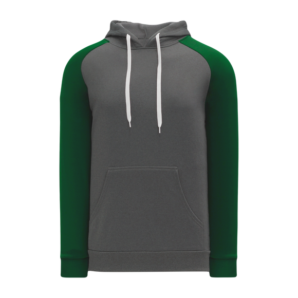 Athletic Knit (AK) A1840-934 Heather Charcoal/Dark Green Apparel Sweatshirt